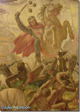 Sancho el Fuerte entrando en el palenque del Miramamolín - Palacio de Navarra