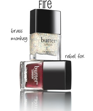 butter LONDON Fire Duo (Holiday 2013) #nails