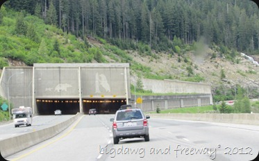 heading into the tunnel on the Coquihalla Highway