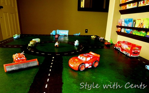 disney cars hot wheels race track 5