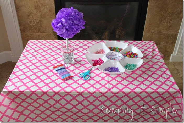 Little Girl Birthday Party Idea Tea Party with Stations (8)