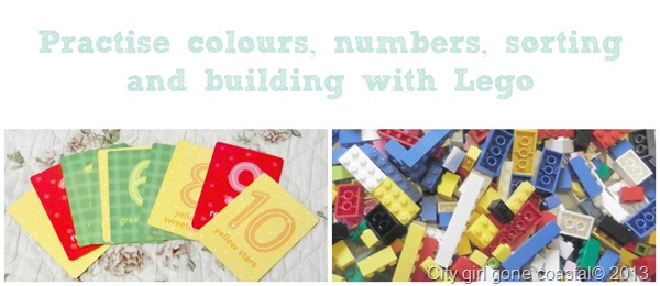 sorting and numbers with lego