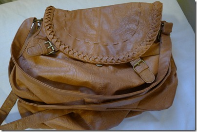 brown leather colour sling bag
