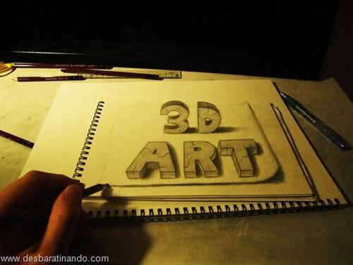 desenhos lapis 3D desbaratinando  (18)