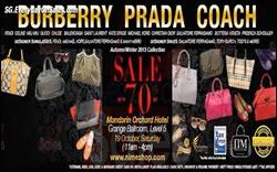 NiMe Shop Warehouse Sale Event Handbags Shoes Sunglasses Singapore 2013 Deals Offer Shopping EverydayOnSales