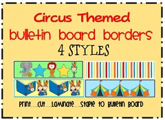 circus themed bulletin board border from molly