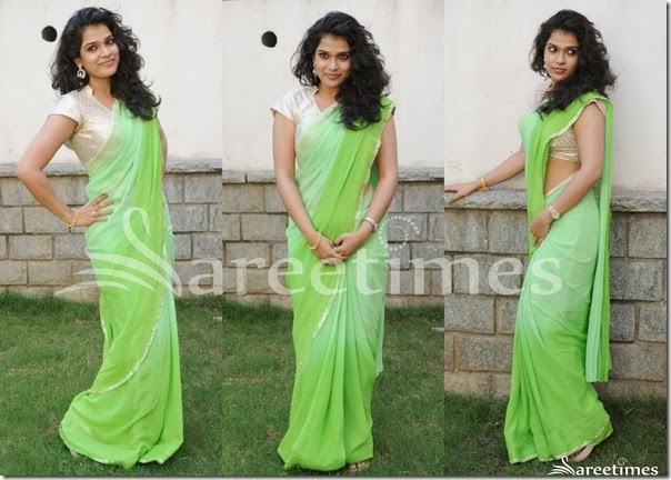 Bhargavi_Green_Georgette_Saree