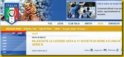 FIGC LICENZA UEFA