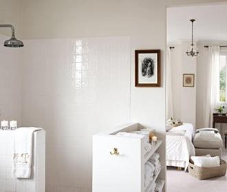 Decoración de Baños tonos blancos elegantes  ArQuitexs