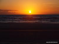 Sonneaufgang am Strand von Fraser Island