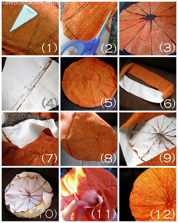 orange sprocket pillow
