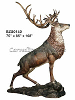 Bronze Elk Statue