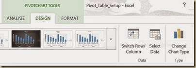 Pivot Charts in Excel - Change Chart Type