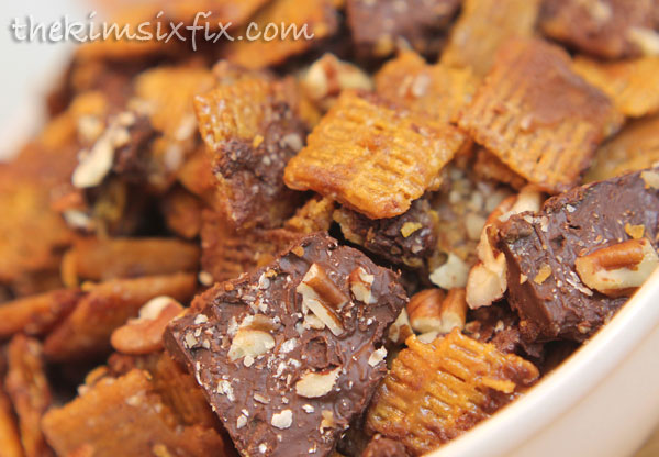Pecan chocolate life cereal snack mix