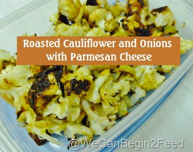 Roasted Cauliflower and Onions with Parmesan Cheese