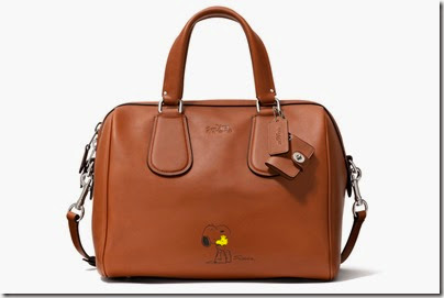 Peanuts X Coach brown satchel bag