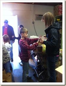 J and Kasey at pantry
