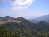 Tegal Alun and Pondok Salada as seen from the approach to Papandayan peak (Daniel Quinn, August 2011)