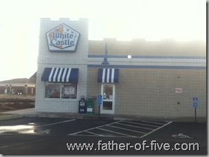 The parking lot of my White Castle