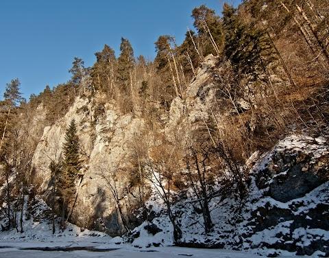 Zamrznutý prielom Hornádu, Slovenský raj.