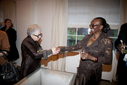 Sylvia Weinstock and Mark's mother after her beautiful toast to her son