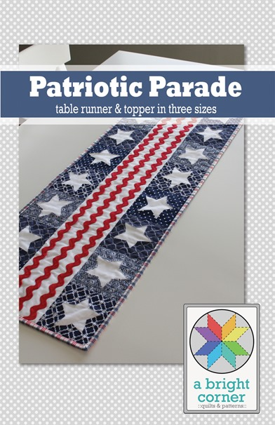 Patriotic Parade table runner pattern