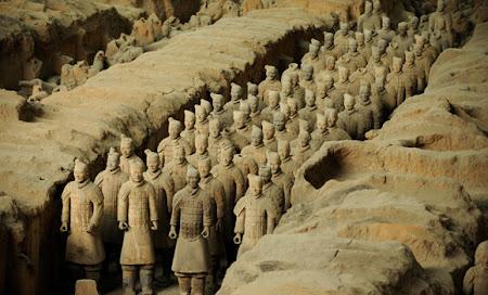 Obiective turistice China: armata de teracota
