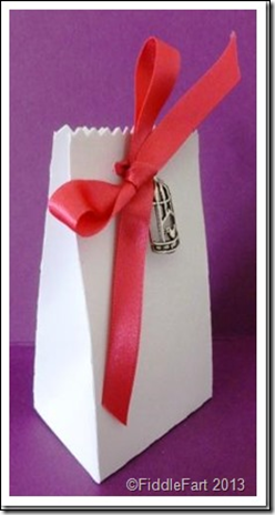 wedding Favour Box with bird cage embellishment.1
