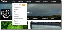 The new camera roll function in flickr