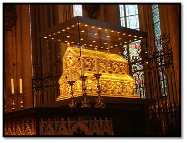 Relicario de los Reyes Magos, catedral de Colonia.