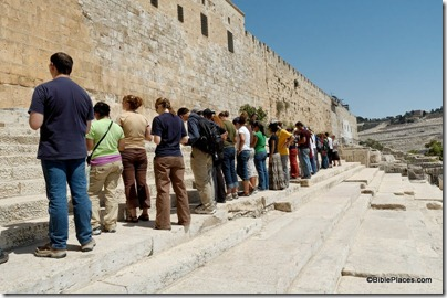 Southern Temple Mount steps with psalms of ascent, tb090705061