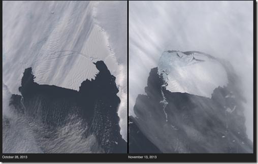 Derretimiento de los glaciares Antártida