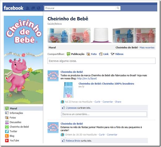 Facebook Cheirinho de Bebê
