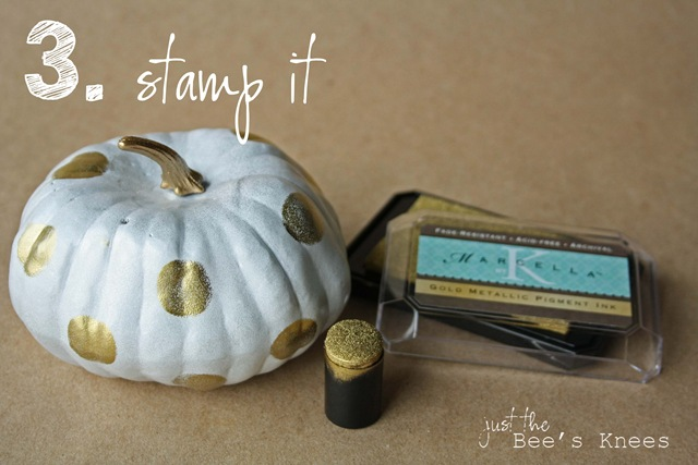stamped pumpkins