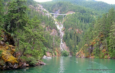 Hwy 20 bridge and waterfall