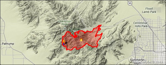 Map-Carpenter Canyon Fire