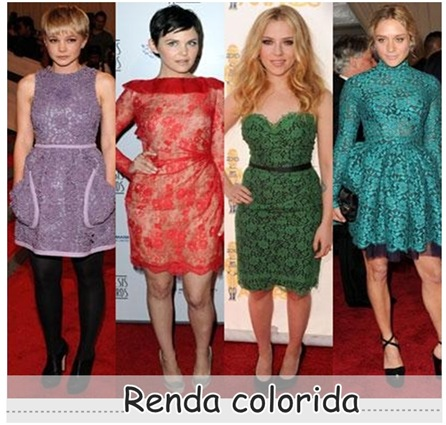 renda colorida