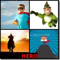 HERO- 4 Pics 1 Word Answers 3 Letters