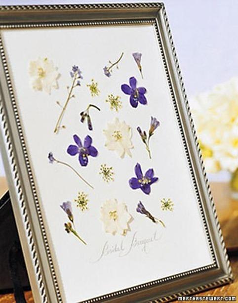 Imagine Design » Wedding Wednesday: Pressing Your Bouquet Idea
