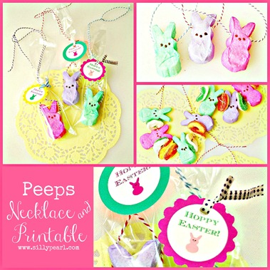 Peeps Necklace and Printable - The Silly Pearl