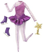 Barbie Complete Looks Ice Skating Doll Fashion Outfit Purple