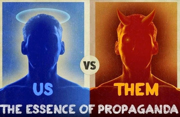 CC Photo Google Image Search Source is www zerohedge com  Subject is propaganda us vs them