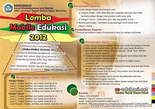 Lomba Mobile Edukasi 2012