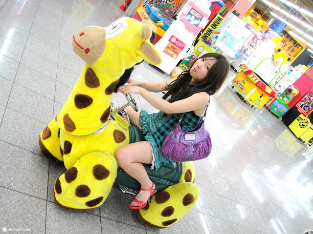 shizuka's new ride in Odaiba, Tokyo, Japan