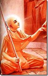 Lord Chaitanya holding sannyasa danda