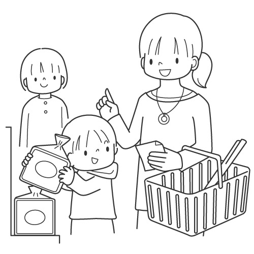 supermarket coloring pages - photo#8