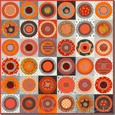 orange grey quiltpattern