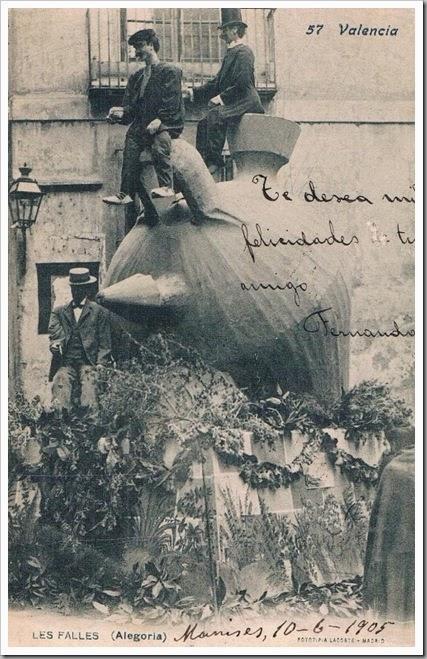 Valencia en fallas Falla Cadirers. 1904