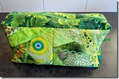 017 Accessory bag 2 crazt pieced and Deco stitched