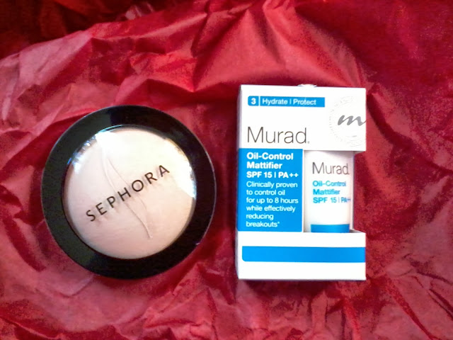 Sephora MicroSmooth face powder, and how I got Murad Oil control Mattifier moisturizer lotion for free